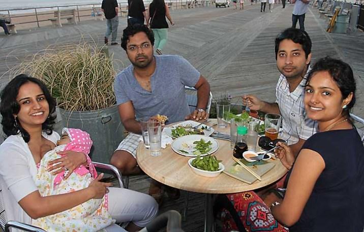 At Lanagosta Lounge on the boardwalk in Asbury Park were Nehanjali Basas, Nyra Sharma, Yogi Sharma and Rajat and Swati Sharma, all of North Brunswick.
