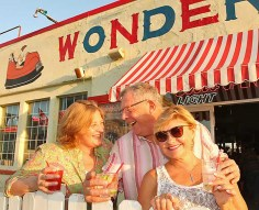 At the Wonder Bar in Asbury Park June 8 were Marta Wirt of Chatham and Karl and Marie Kjellberg of Eatontown.