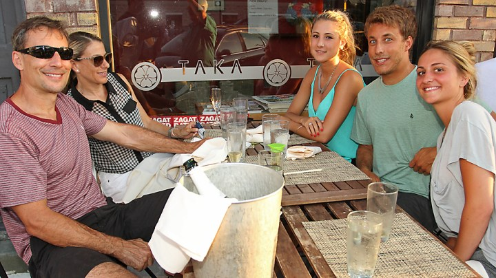 At Taka in Asbury Park were Larry, Rochelle, Gabrilla and Nick Menditto, all of Ocean Township and Shelby Farrell, also of Ocean Township.