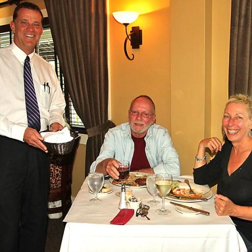 Stan Ostrosky waits on Al McNamara and Karen Schroeder, both of Ocean Grove, at Moonstruck in Asbury Park.