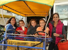 Enjoying a bike ride on Asbury Park boardwalk were Sandy Scotti with Nicholas, Michelle and Sofia, all of West Long Branch and Isabela Iantosca of Long Branch.