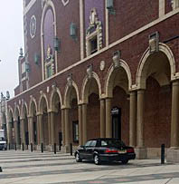Asbury Park Mayor Myra Campbell parked her car on the sidewalk in front of Convention Hall recently.