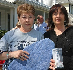 Joyce Gentile & Donna Bobertz, Pt. Pleasant - Joyce: I look for bargains, things that are nice, but cheaper then in the stores. Books. Sometime you can repurpose for crafts. Donna: I look for unusual things that you can't find in the store. Unusual things, different. This time of year things for the yard, planters and such.
