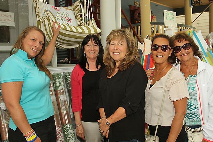 At Favorite Things in Ocean Grove were Elyce Tetorka of Favorite Things with Terri Leonhardt, Manasquan; Joanne Johnson Morgan, Manasquan; Lorrie Higgins, Brick Township and Josephine Gambarony, Brick Township.