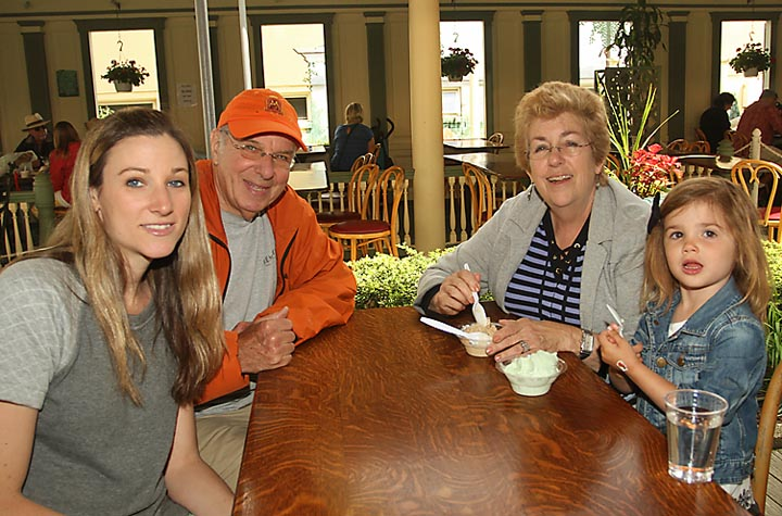 Enjoying an ice cream stop at Day's Ice Cream in Ocean Grove were Jill Emmich, Mel Gelade, Lois Gelade and Harper Emmich, all of Asbury Park.