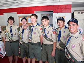 These six scouts from Oakhurst Troop 71 recently obtained their Eagle Scout honors.They are (from left) Dan Bauman, Brendan Gifford, Max Natanagara, Nick Borgia, Erik Brockel and Nick Dawe.