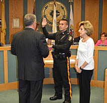Coaster Photo - James M. VanEtten was sworn in as a police officer in Neptune City this week.