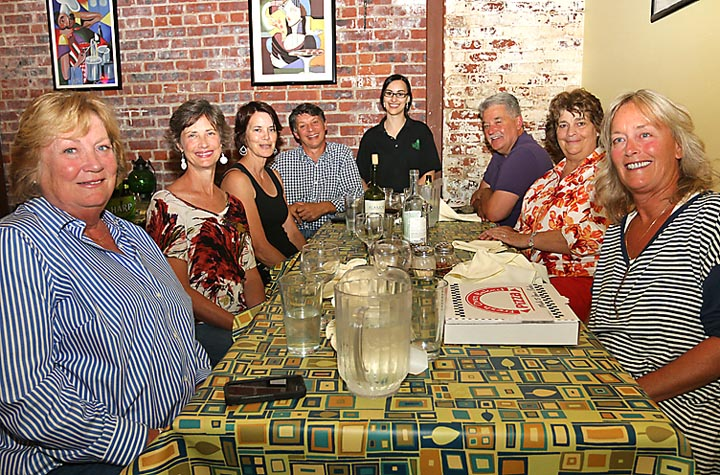 At Crust and Crumble in Asbury Park were Bobbie Mitchell, Ocean Grove; Susan Vianna, Chester, Maryland; Teresa Grant, Virginia; Michael Boniello, Ocean Grove; Joe and Lois Bridge, both Ocean Grove and Carol Boniello, Ocean Grove. Waiting on them was Adriana Eteson.