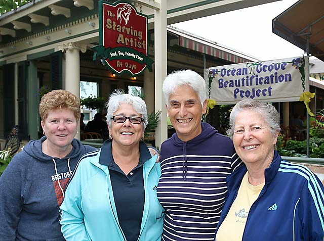 At a fund-raiser for the Ocean Grove Beautification Project held at the Starving Artist restaurant in Ocean Grove were Diane Davis, Joan Caputo, Luisa Paster and Harriet Bernstein, all of Ocean Grove.