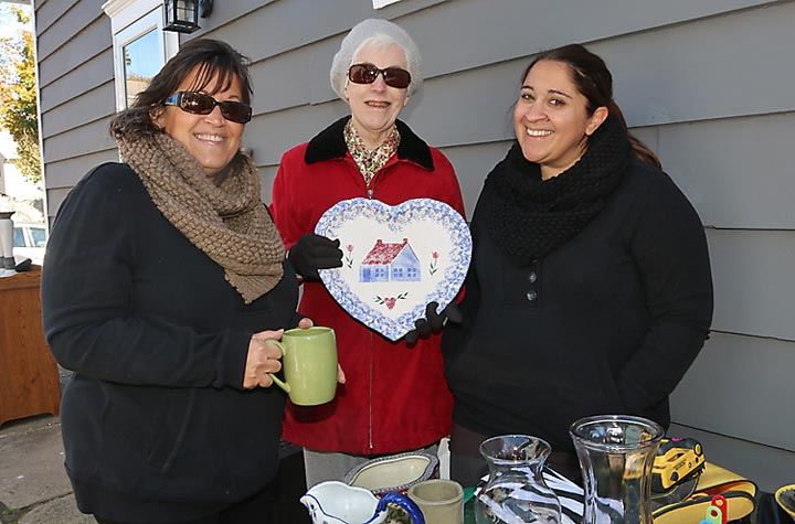 At a yard sale in Ocean Township were Rosie Camoosa, Maryann Farry and Kristin Hand, all of Ocean Township.