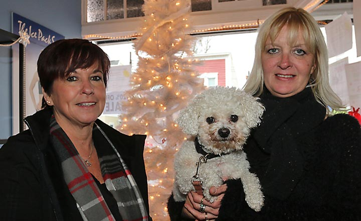 Lake Como resident Jami Nealon is pictured with Jill Capone and Pookie at Serenity by the Sea.