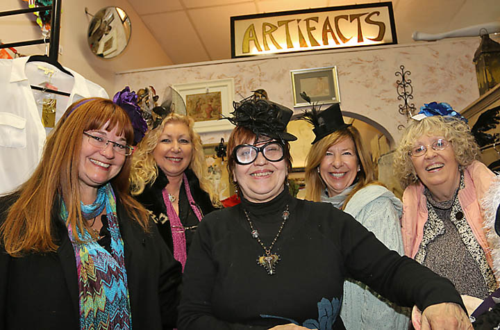 At Artifacts Boutique were Marcelle McGovern, Farmingdale; Sue Baranowski, Shark River Hills; shop owner Liz Finegan, Barbara Wild, Brielle and Marla Hollingsworth, Asbury Park.