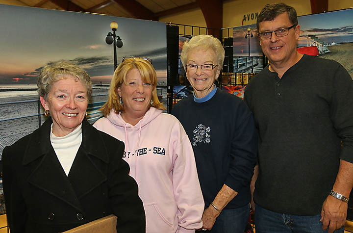 Kathleen Ekler, Neptune City; Lucille Gamble, Avon; Claire Gamble, Wall Township and Dave Gamble, Avon were at the Avon Craft Fair where Dave's art was on display.