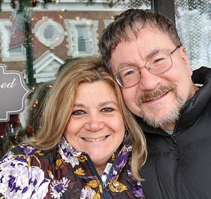 Laurie Saccani & Rich Jarosz, Asbury Park - We did a trip to Nashville, it was awesome. We had our picture taken at the Grand Ole Opry. We saw Keith Urban in concert. He was great. We went to Graceland. It's Music City.