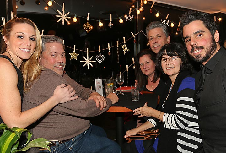 Celebrating New Year's Eve at the Bar Room in Deal were the Vacchiano family (from left): Amanda, Frank Denise, James, JeanAnn and Jay.
