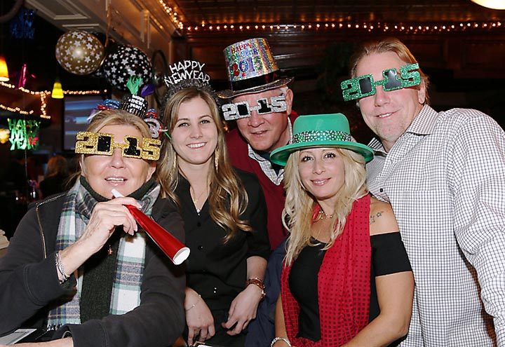 At McGillicuddy's in Loch Arbour on New Year's Eve were Kat Nitto, Asbury Park; Cecilia Pegler, Greg Haulusch, Allenhurst and Cristina and Jeff Woszczak.