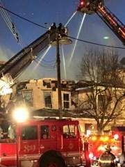 The Fri. Feb. 6 fire on Main Avenue, Ocean Grove. Photo by Richard Virgilio.