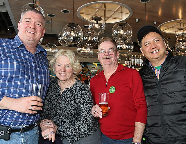 Also at the benefit at Taka were (from left) Ocean Township Councilman Mike Evans, Helen and Pat Barrett, Wall Township and Gary DeGuzman, Wanamassa.