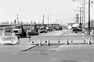 Coaster Photo - A large portion of Kingsley Street in Asbury Park has been closed for repaving.