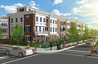 This is a rendering of the townhomes proposed by K. Hovnanian Homes on Cookman Avenue in Asbury Park.