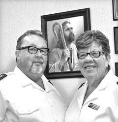 Coaster Photo - Major Carl E. Carvill and his wife Barbara, also a major in the Salvation Army, are the new officers in charge at the Salvation Army in Asbury Park.