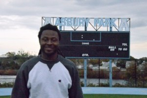 Former Asbury Park High School football standout Lamar Davenport is in his first year as an assistant coach with the Blue Bishops after playing for Monmouth University.