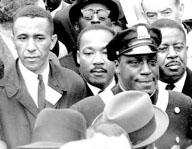 Rev. Gil  Caldwell (left) of Asbury Park is pictured with Martin Luther King Jr. at a civil rights event.