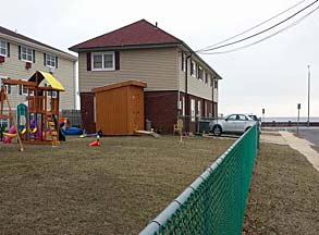 The federal government wants to auction off this former Coast Guard property at Ocean and East End Avenues in Avon but borough officials want the auction delayed pending further discussion. (U.S. General Services Administration photo)