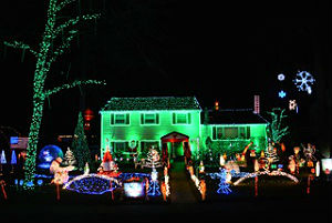 The holiday light display at 8 Timber Drive in Ocean is designed and implemented by Shane MacCary.  It takes him weeks to install and program more than 80,000 bulbs.