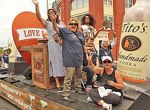 At the 26th Annual GLBTQ Pride Parade and Festival in Asbury Park