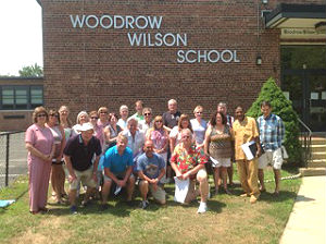 Some graduates of the 1967 class at Woodrow Wilson School in Neptune City gathered recently for a tour there.