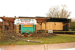 Coaster Photo - Schneider's restaurant in Avon was gutted by fire early Saturday morning.