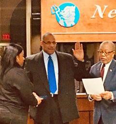 Larry Fisher was sworn in as Neptune Deputy Police Chief last week.