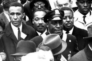 Asbury Park resident Gil Caldwell (at left) marched with Martin Luther King Jr. in Selma and Mississippi.