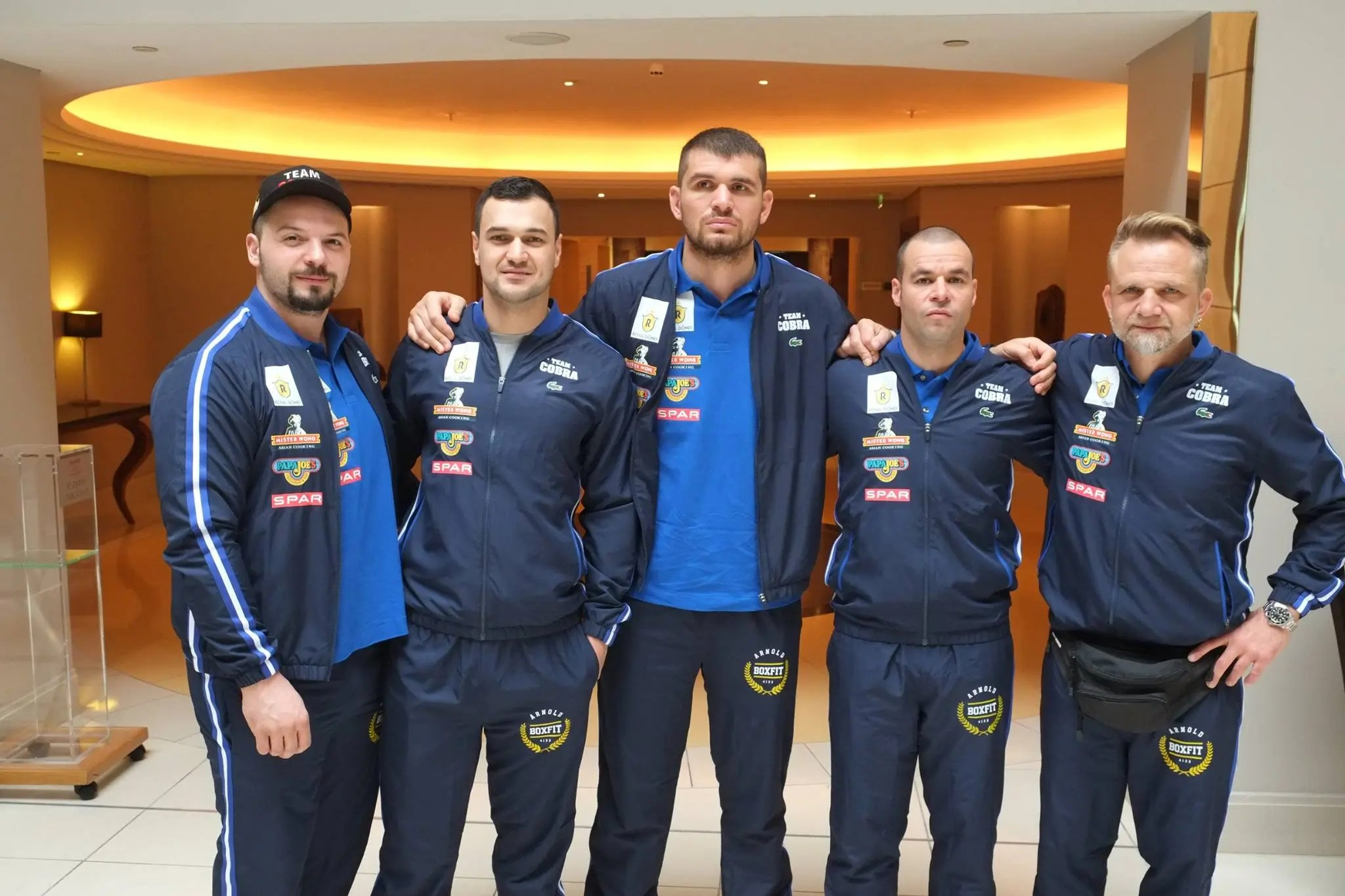 """Team Cobra before the Press conference at """"The Ali Exhibition"""" O2, Arena"""