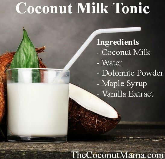 Coconut milk tonic