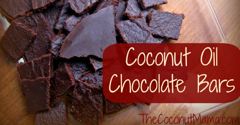 Coconut Oil Chocolate Bars from The Coconut Mama