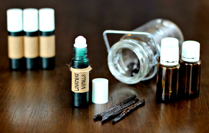 Homemade Perfume Roll-On made with Essential Oils