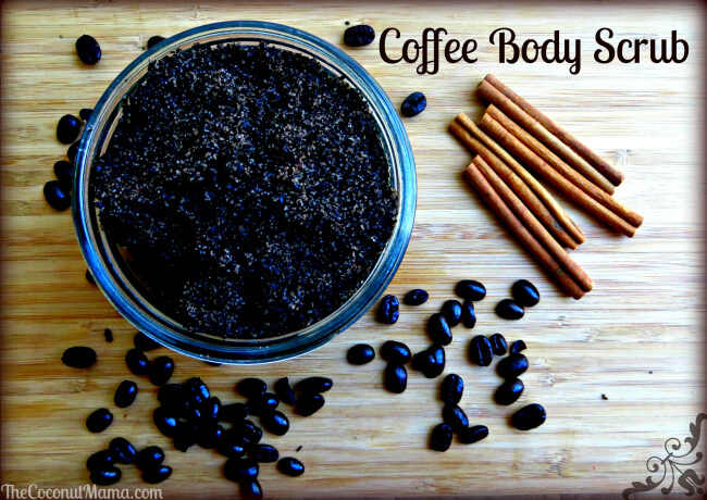 Coffee Body Scrub with Coconut Oil