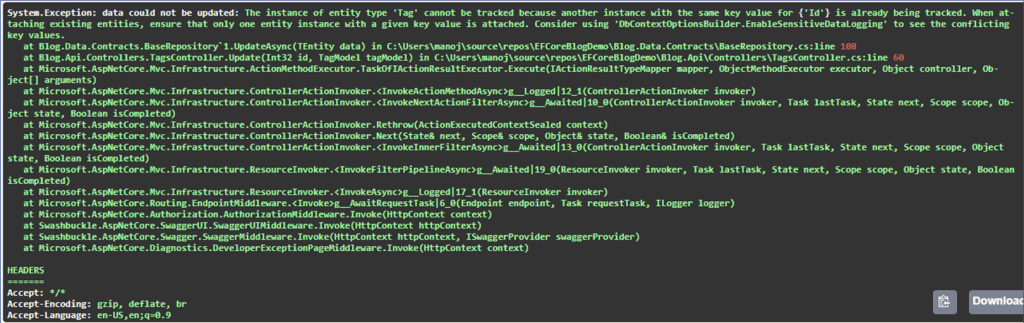 EF Core Identity Resolution - Entity already being tracked error