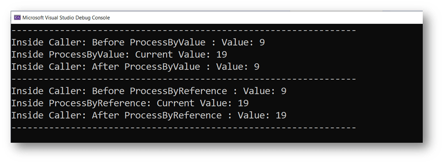 Value Types - Pass by value and Pass by reference