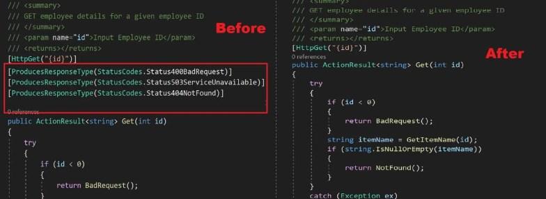 Customizing Swagger API documentation in  NET Core 2 1