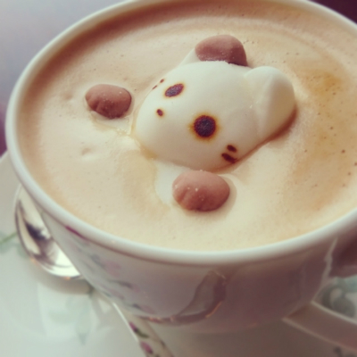 latte art little bear