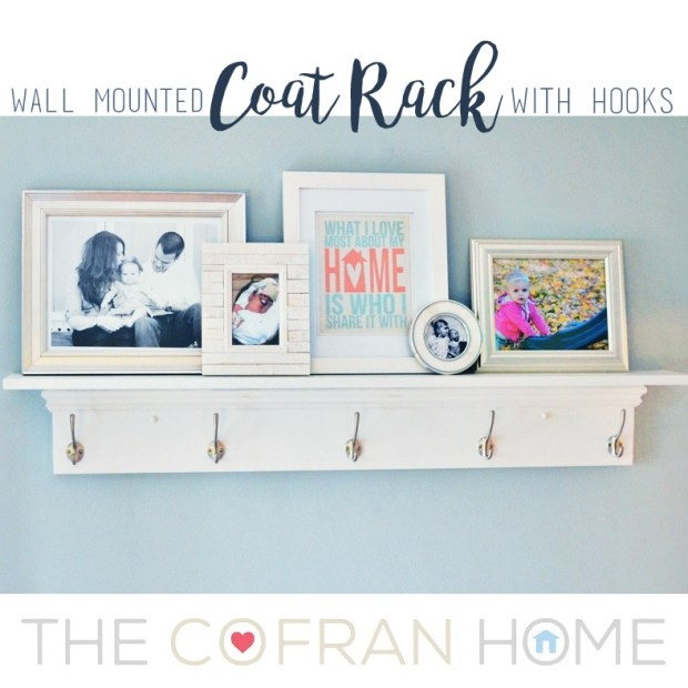 Wall Mounted Coat Rack with Hooks