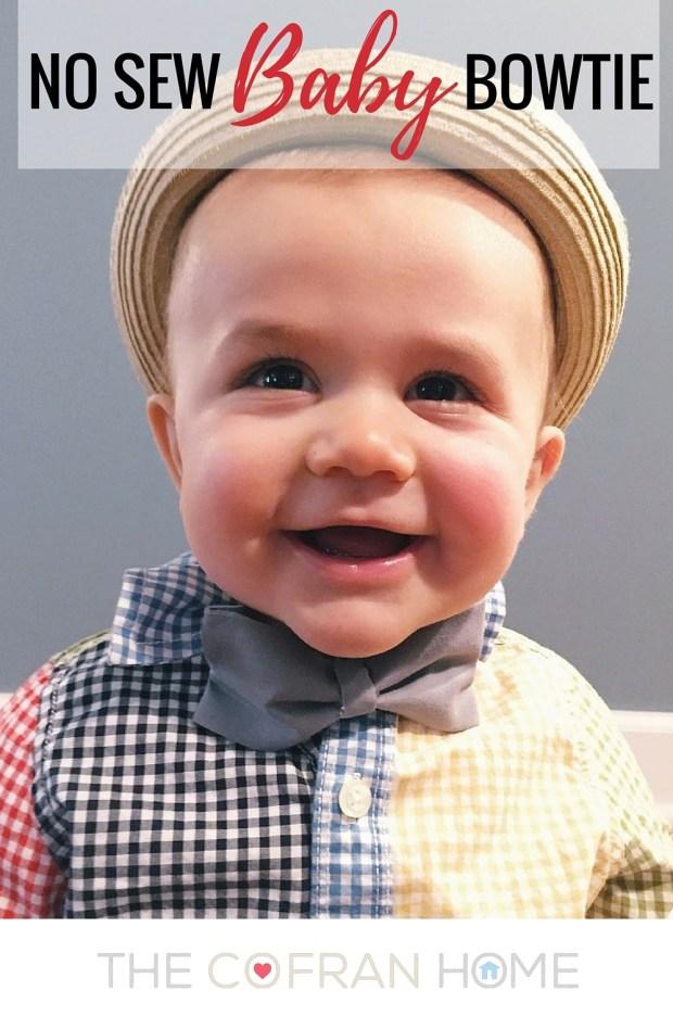 No Sew Baby Bowtie