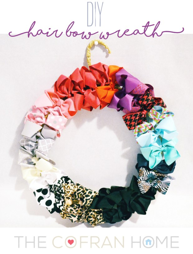 DIY Hair Bow Wreath