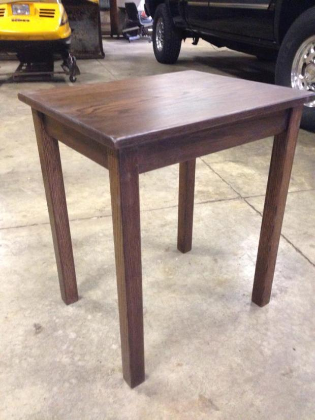 End Table Assembled in garage