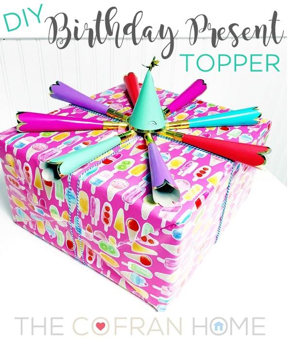 DIY Birthday Present Topper
