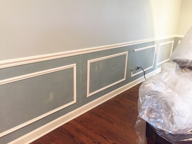 Living room with wainscoting