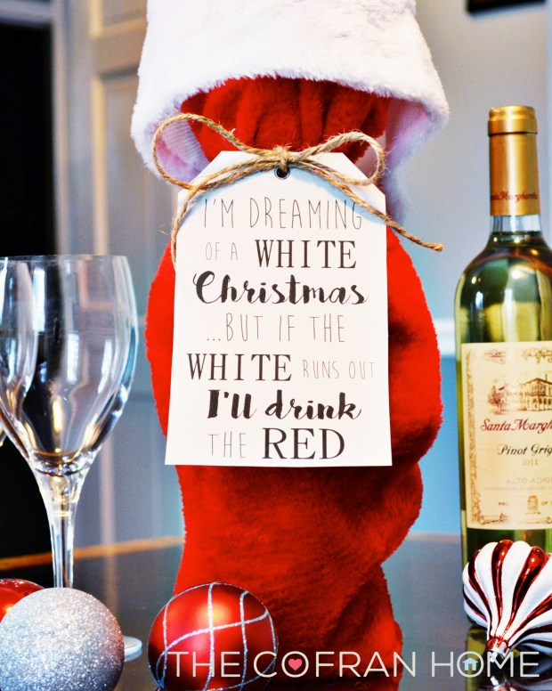 Dreaming of a White Christmas Wine Tag